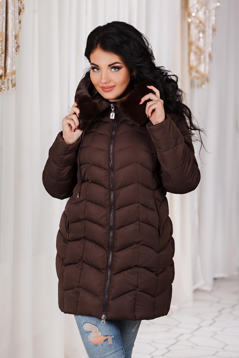 ДР7088 Куртка зимняя на холлофайбере батал