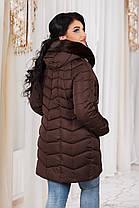ДР7088 Куртка зимняя на холлофайбере батал , фото 2