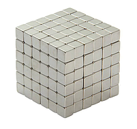 Тетракуб 216 намагниченных неодимовых квадратных кубиков 4 мм