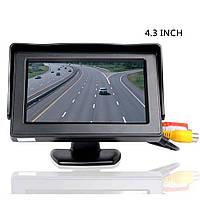 Монитор автомобильный TFT LCD экран 4,3 дюйма на две камеры