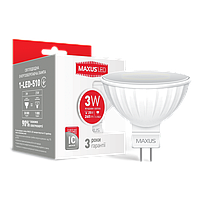 LED лампа MAXUS MR16 3W 4100K 220V GU5.3 (1-LED-510)