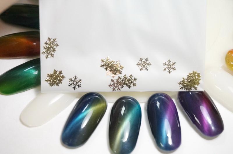 """Металлический декор для ногтей """"Снежинки"""". 3"""