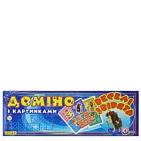 Детская настольная игра Домино Веселые звери большое