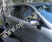 "Дефлекторы дверей (ветровики) Renault Scenic III 2009 деф.окон ""CT"""
