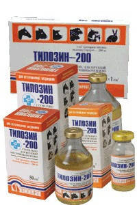 Тилозин-200 10 мл ветеринарный антибиотик широкого спектра действия, фото 2