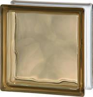 Стеклоблок бронзовый 1908/W цветная стекломасса Чехия