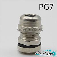 Кабельный ввод металлический PG7 IP68