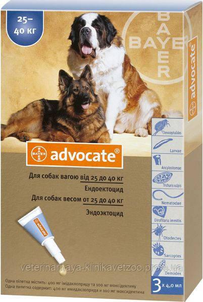 Адвокат для собак больше 25 кг Bayer (Германия) .1 пип.