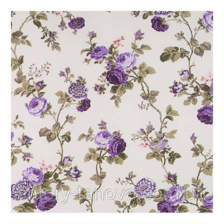 Шторы с розами фиолетовый