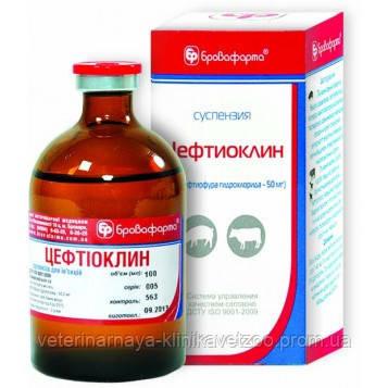 Цефтиоклин 10 мл ветеринарный антибиотик широкого спектра действия