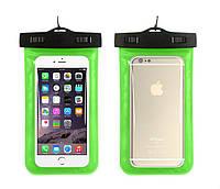Водонепроницаемый чехол для телефона универсальный Waterproof зелёный