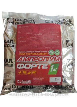 Ампролиум форте 30% 50 г порошок ветеринарный кокцидиостатик для цыплят и кроликов, фото 2