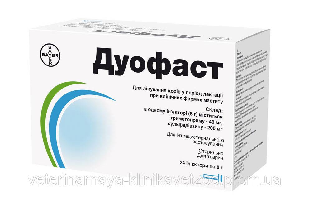 Дуофаст 8 г шприц-туба препарат для лечения маститов у коров.
