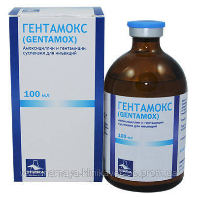 Гентамокс 100 мл комплексный ветеринарный антибиотик широкого спектра действия, фото 2