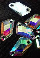 Стразы пришивные Космик 10х18 мм Crystal AB, смола (синтетическое стекло)