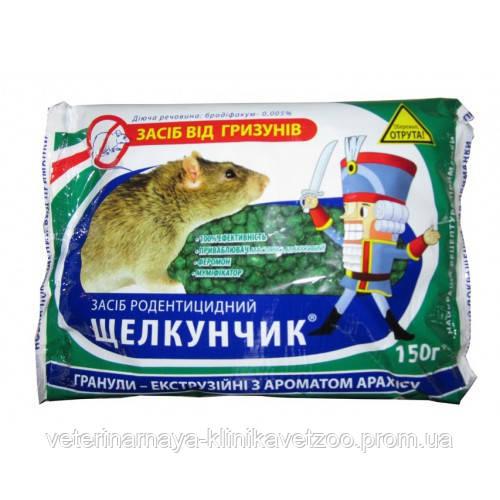 Щелкунчик 250 г банка  мумифицирующее средство от грызунов: мышей и крыс (Яд от крыс) Зерно