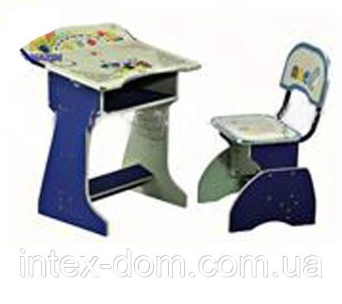 Парта со стульчиком  HB-2075-01 (СИНЯЯ) КИЕВ