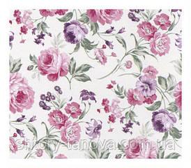 Ткань для штор розы сиреневый
