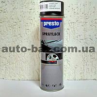 Автокраска акриловая в баллончике автомобильная Presto, черный мат, 0,5 л.