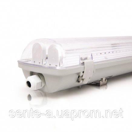 Светодиодный светильник 38843 без ламп EVRO-LED-SH-2*10 18W 6400К (2*600мм) вытянутый белый IP65 Евросвет