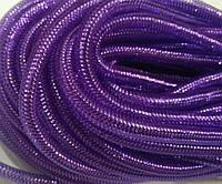 Трубочка-сетка (регилин, кринолин, тубуляр), диаметр 8 мм, фиолетовый с люрексом