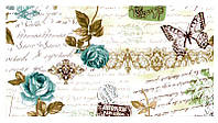 Шторы в стиле прованс письмо голубой