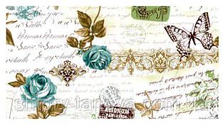 Шторы в стиле прованс письмо голубой с тефлоновой пропиткой Турция ширина 180 см Ткани для штор на метраж