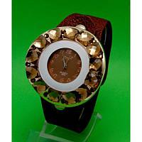 """Женские наручные часы с коричневым кожаным ремешком """"Арта"""""""