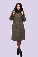 "Пальто-пуховик ""Каролина"" ,хаки (50-62)"