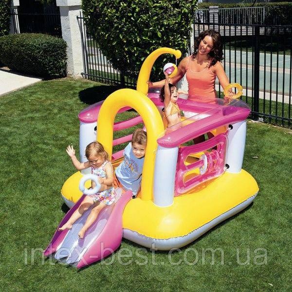 Детский надувной игровой центр с горкой Bestway 52122 (203х147х150 см.)