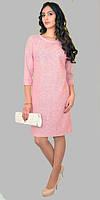 Нарядное женское платье из тонкой шерсти с люрексом размеры:46-58