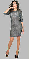 Наярдное женское платье из тонкой шерсти с люрексом размеры:46-58