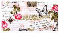 Ткань в стиле прованс письмо из Парижа розовый