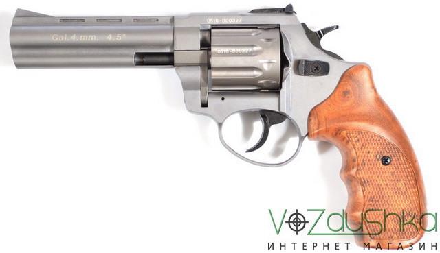 револьвер  под патрон флобера Stalker Titanium wood 4,5 (gt45w)