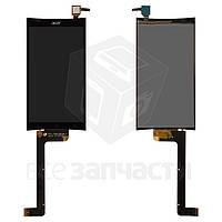 Дисплей для мобильного телефона Acer Liquid E700, черный, с сенсорным экраном