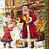 "Салфетки для декупажа ""Санта с подарком"""