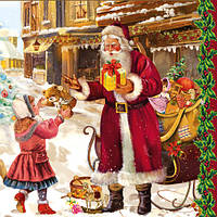 "Салфетки для декупажа ""Санта с подарком"", фото 1"