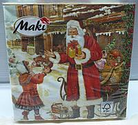 """Набор салфеток """"Санта с подарками"""", фото 1"""