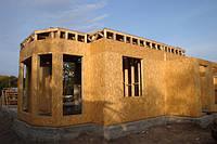 Первый этаж дома построенного по каркасной технологии