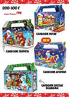 Новогодняя подарочная коробочка (200-300 грамм)