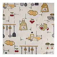 Ткань для штор на кухню коричневый
