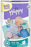 Памперсы для детей Bella Happy 6 (16+кг) 54шт.