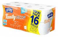 Туалетная бумага Grite Family  Deco 16 шт