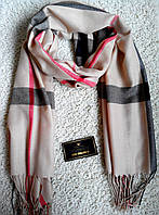 Красивый шарф/палантин Burbberry, Бёрберри (темно-бежевый) без логотипов