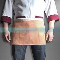 Передник-фартук прорезиненный с карманами короткий, фото 1