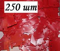 Шпули пластиковые для мулине (250 шт). Цвет - красный, фото 1