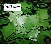 Шпули пластиковые для мулине (500 шт). Цвет - зеленый, фото 1