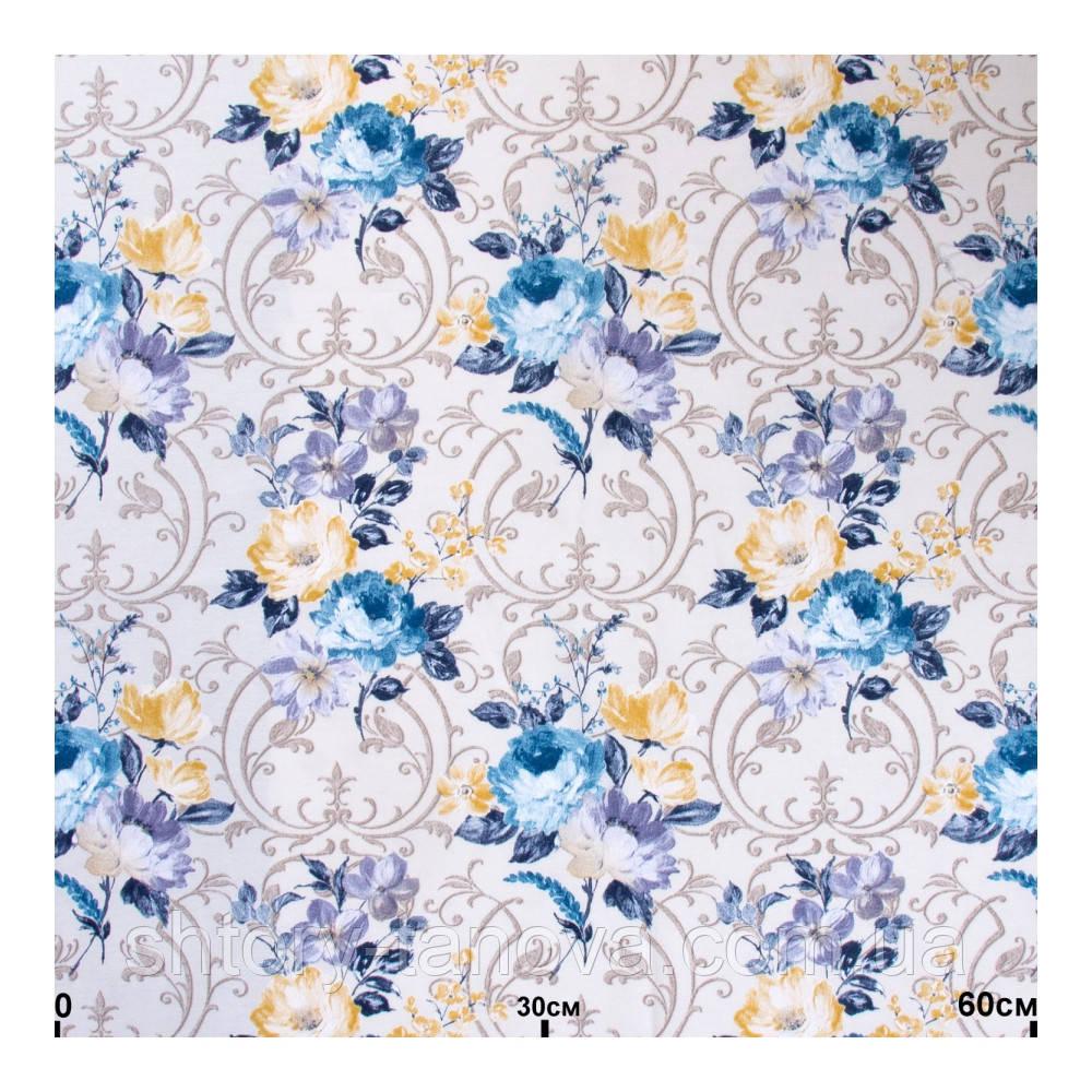 Шторы в стиле прованс розы голубой