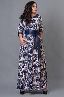 """Трикотажное красивое длинное платье  - """"Нинель"""" код 487"""