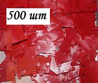 Шпули пластиковые для мулине (500 шт). Цвет - красный, фото 1